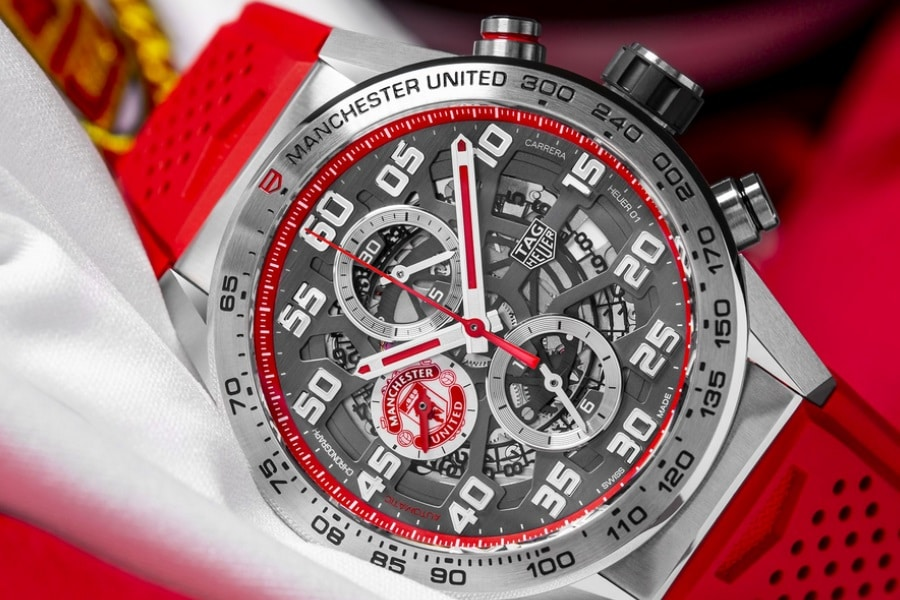 tag heuer manchester united watch sub dials