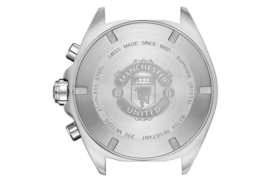 manchester united tag heuer watch caseback
