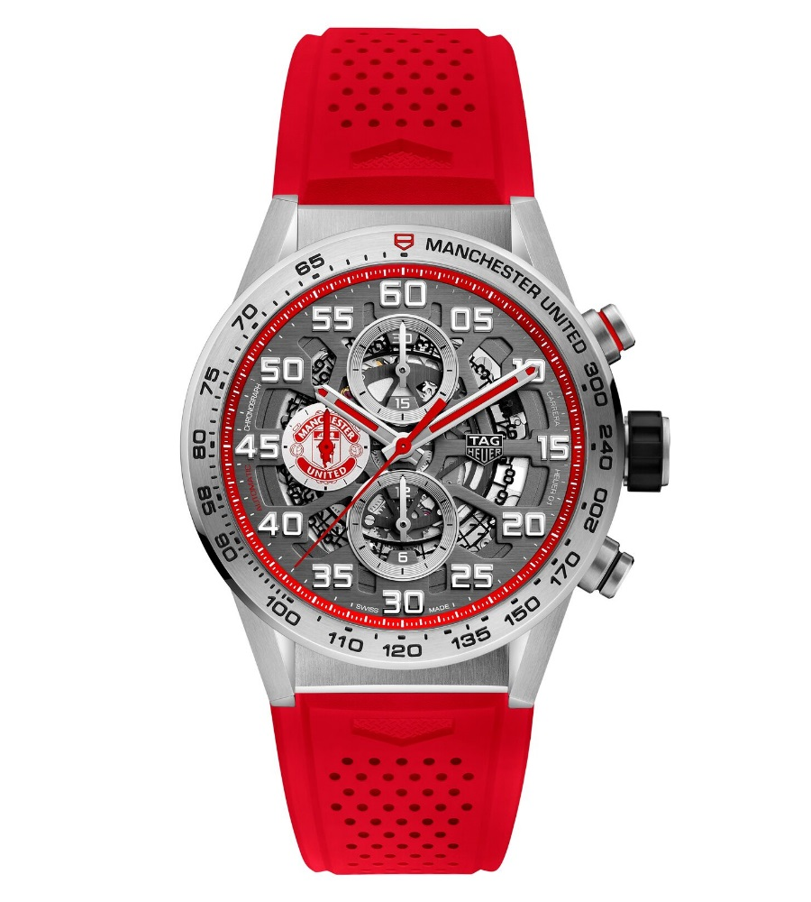 manchester united tag heuer red colour