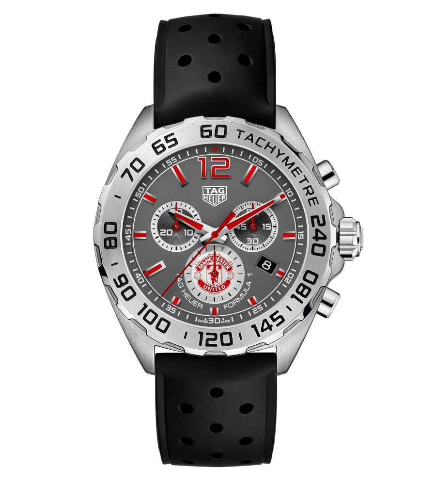 manchester united tag heuer black colour