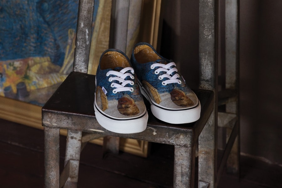 vans slip ons with van gogh self portrait