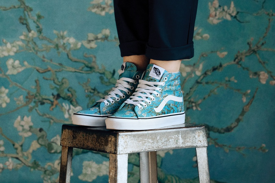 vans sk8 hi tops inspired by vincent van gogh