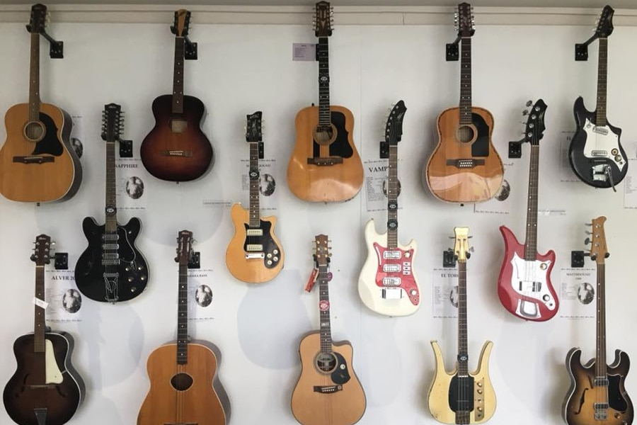 guitar paradise on the wall