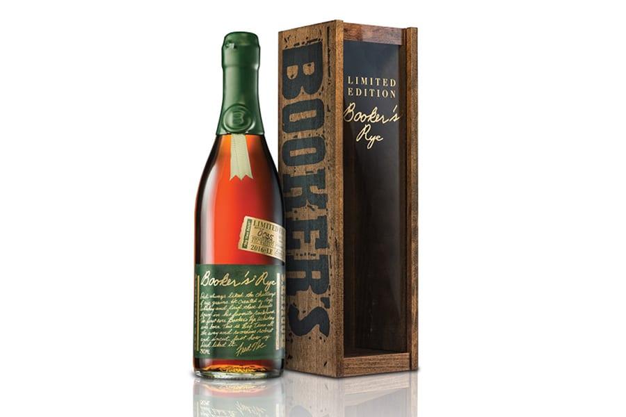 booker's 13 year rye whiskey bottle