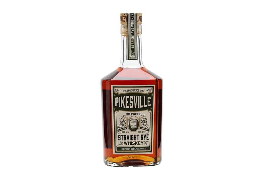 pikesville 6 year whiskey bottle