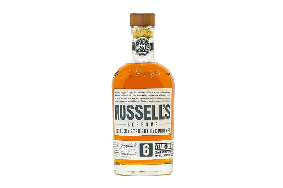 russell's reserve 6 year kentucky straight rye whiskey