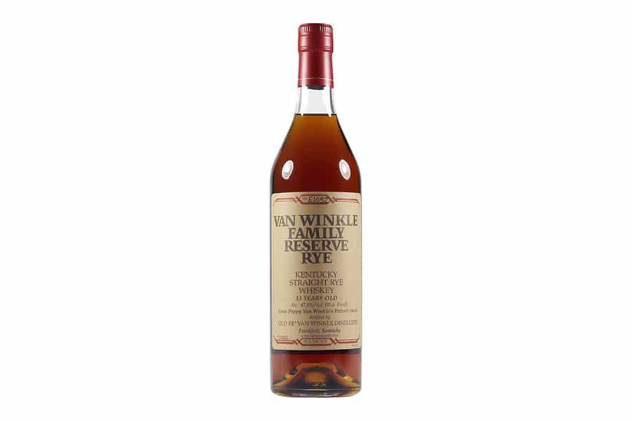 van winkle family reserve rye whiskey