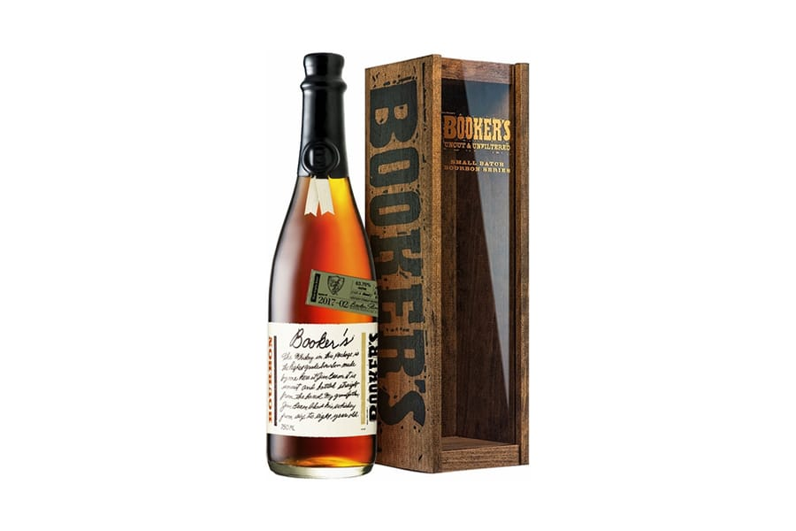 booker bourbon whiskey bottle