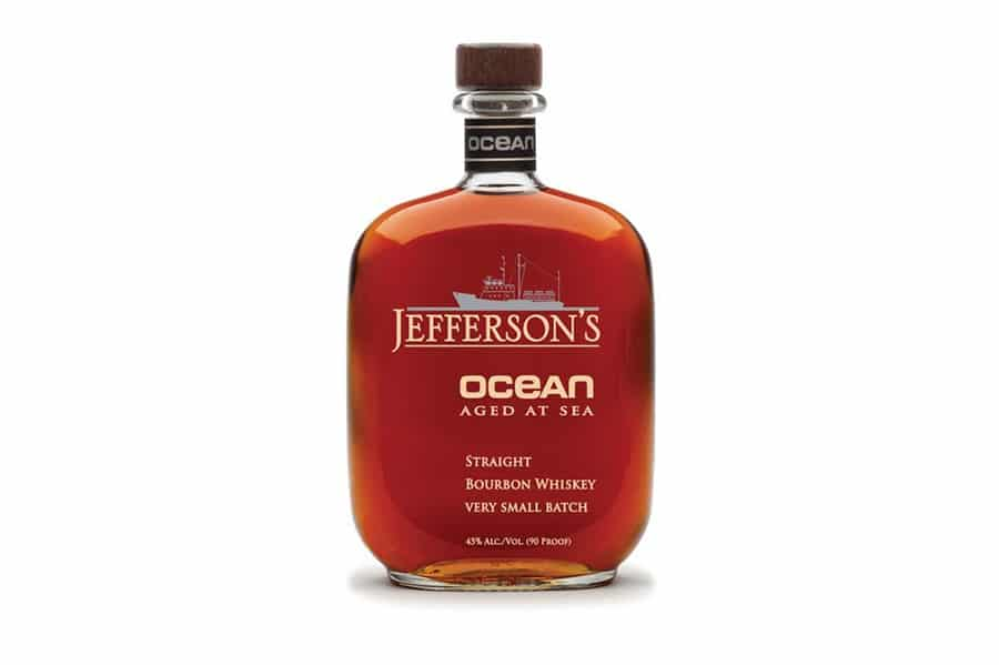 jefferson's ocean aged at sea whiskey bottle