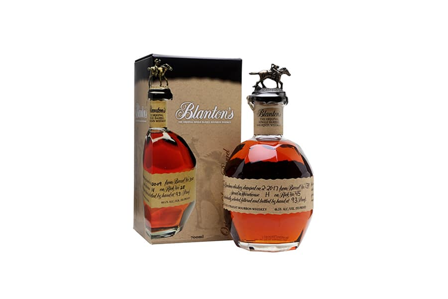 blanton's single barrel best bourbon bottle and box