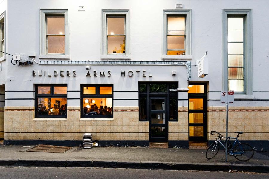builders arms hotel facade