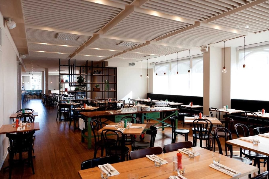 plough hotel interior dining space