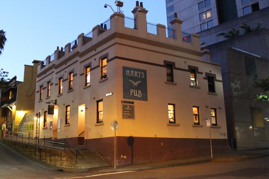 harts pub exterior corner facade