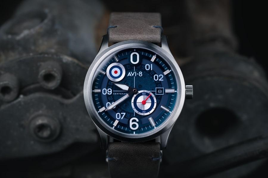 avi 8 centenary flyboy watch blue