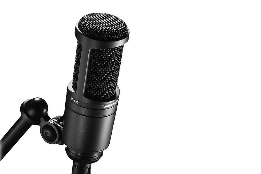 technica at2020 cardioid condenser studio xlr microphone