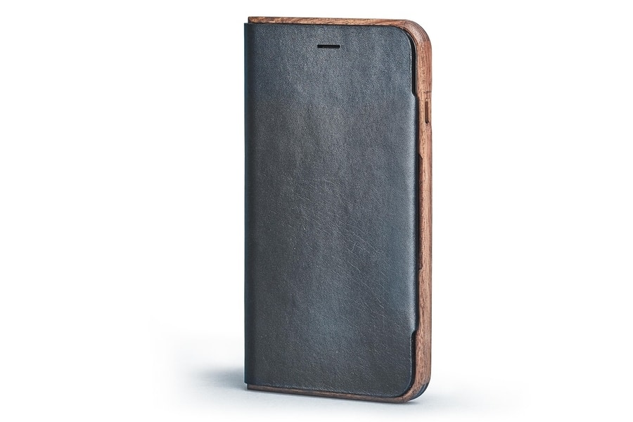 grovemade walnut and leather iphone wallet case