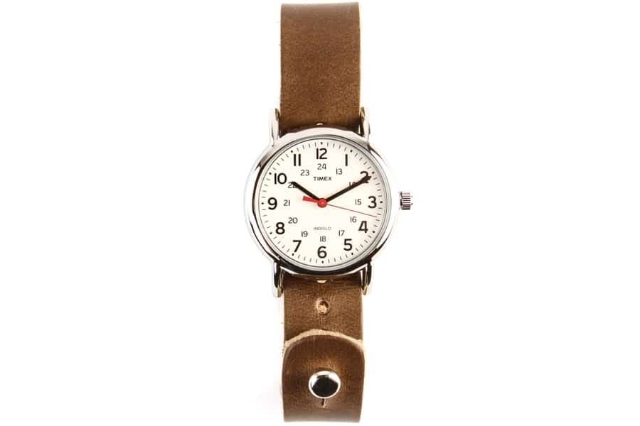 huckberry watch classic dial and stainless steel case