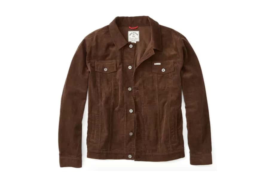huckberry iron and resin rambler jacket chocolate cord
