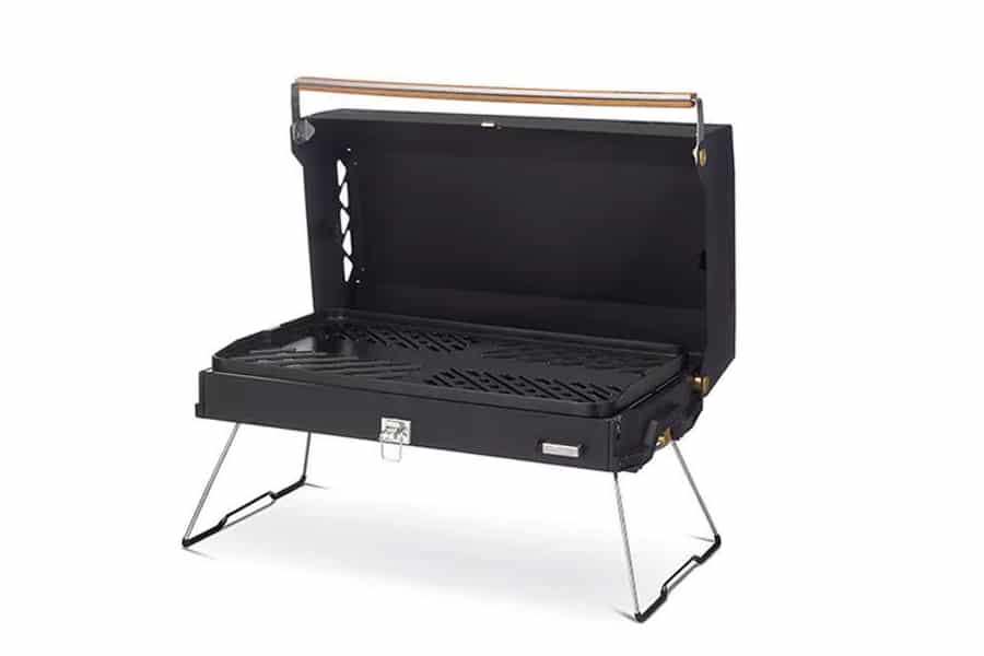 primus kuchoma grill in black open view
