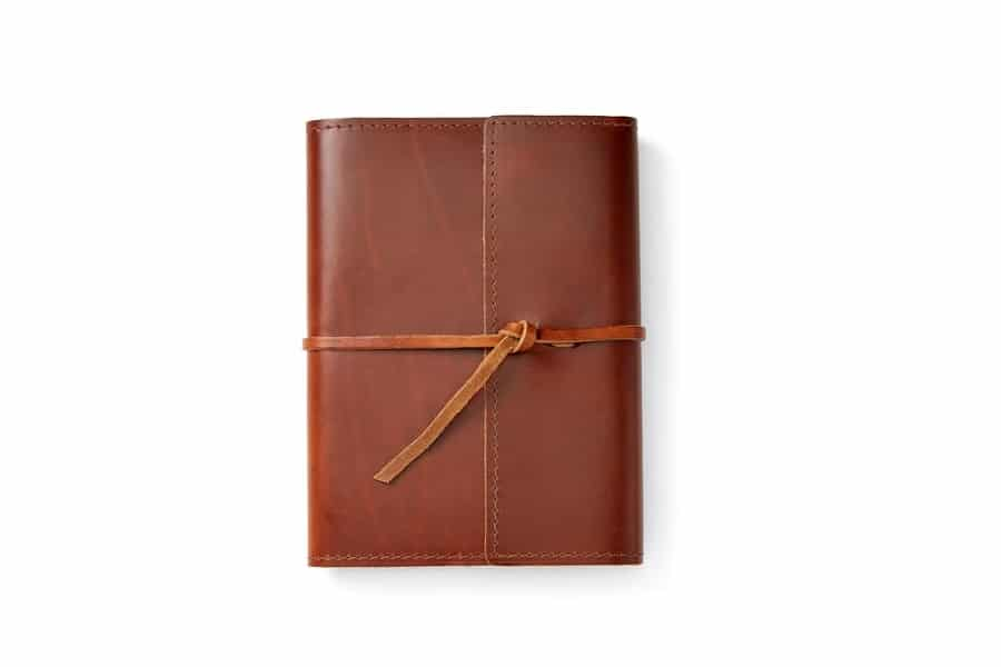 rustico writer's log leather refillable notebook