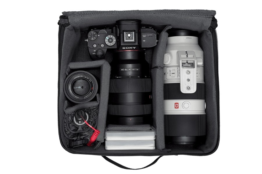 camera accessories in the jay alvarrez bag