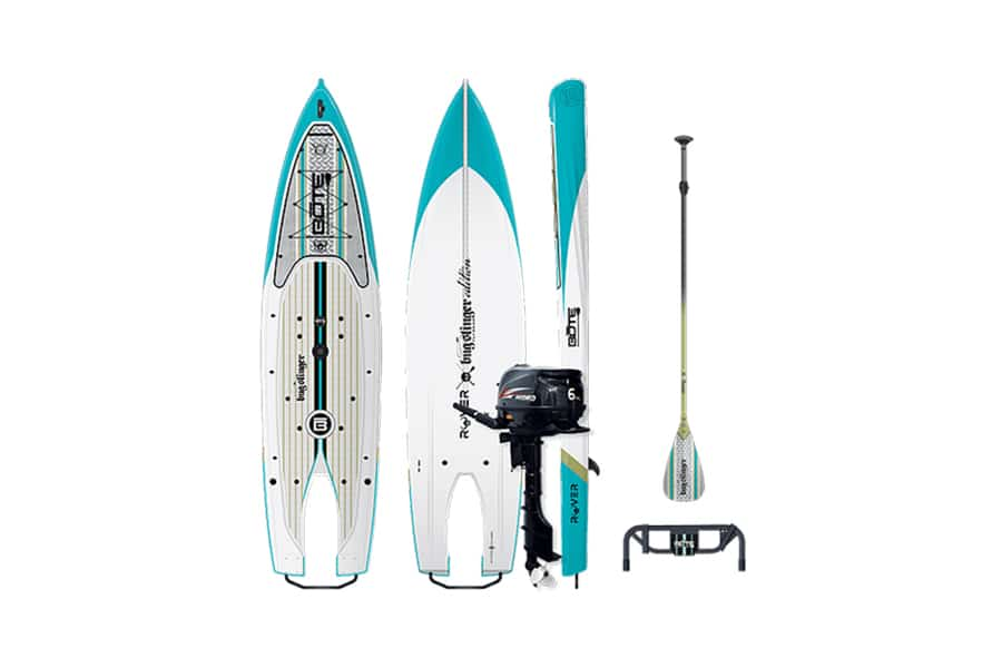 rover motorized paddle board vertical view