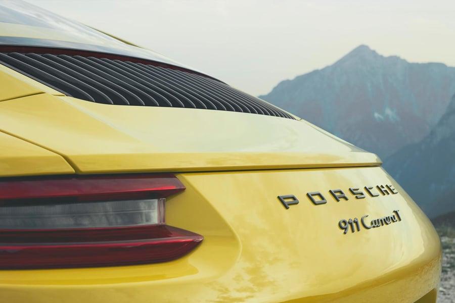 porsche 911 carrera t back side