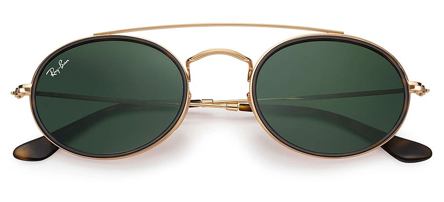 oval ray ban green glasses