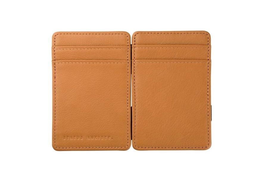 Status Anxiety Flip Wallet Tan colour