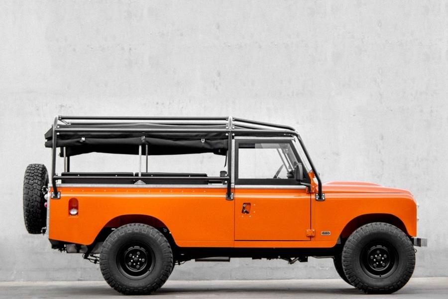 Tangerine 1983 Land Rover Series 3 side