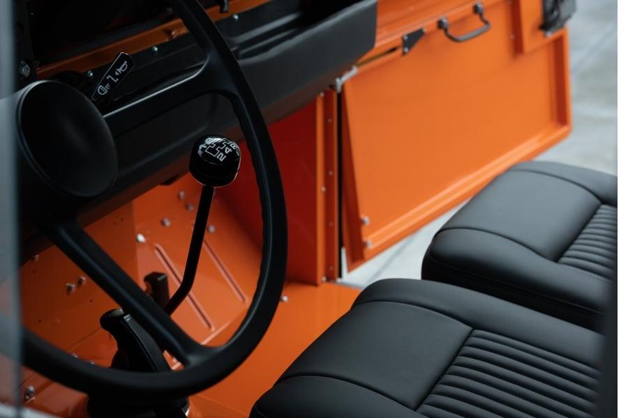tangerine 1983 land rover interior