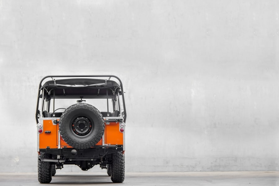 Tangerine 1983 Land Rover Series 3 rear