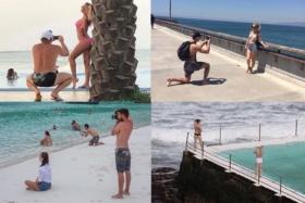 collage of boyfriends taking photos