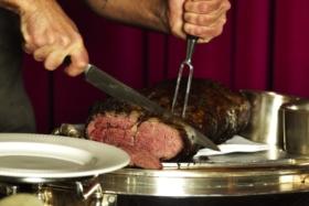 steakhouse inspired dining room.