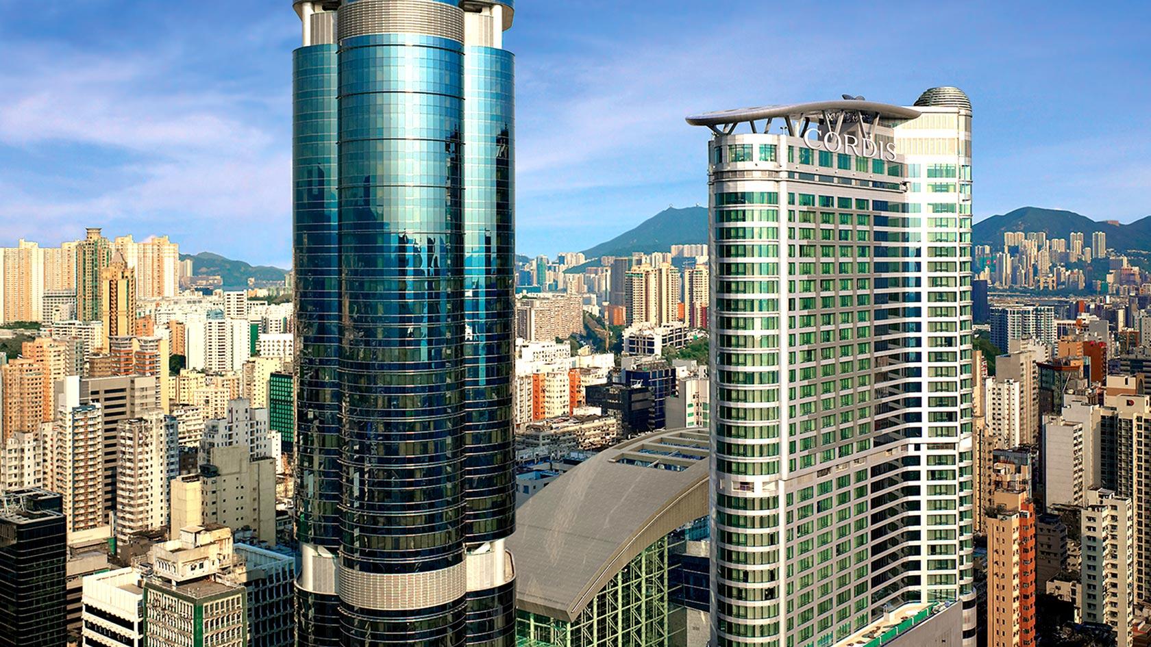 cordis club lounge hong kong hotel architecture