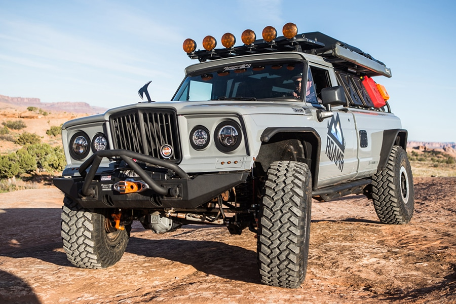 jeep tomahawk on the road