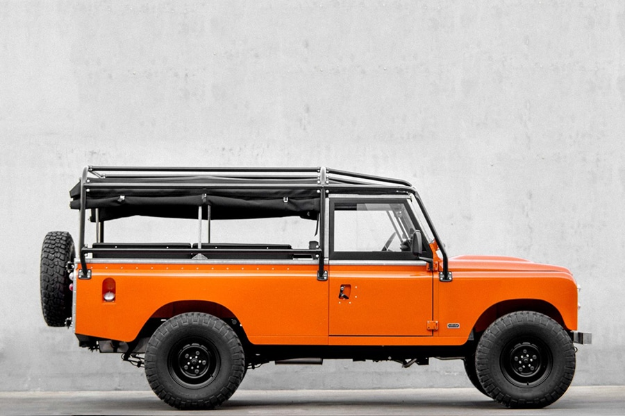side view land rover