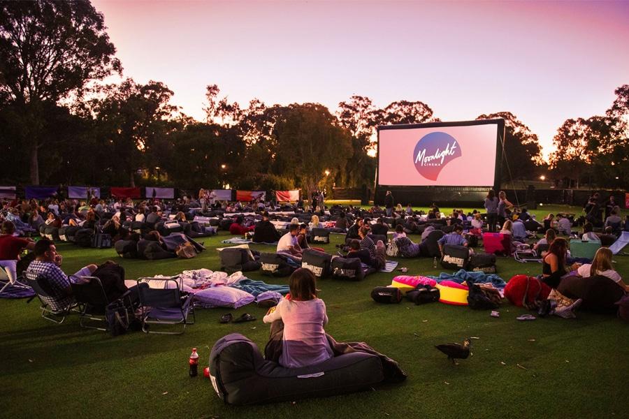 moonlight outdoor cinema sunset
