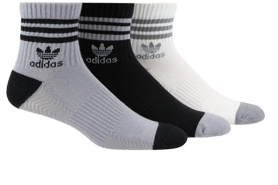 adidas men's originals cushioned high quarter socks