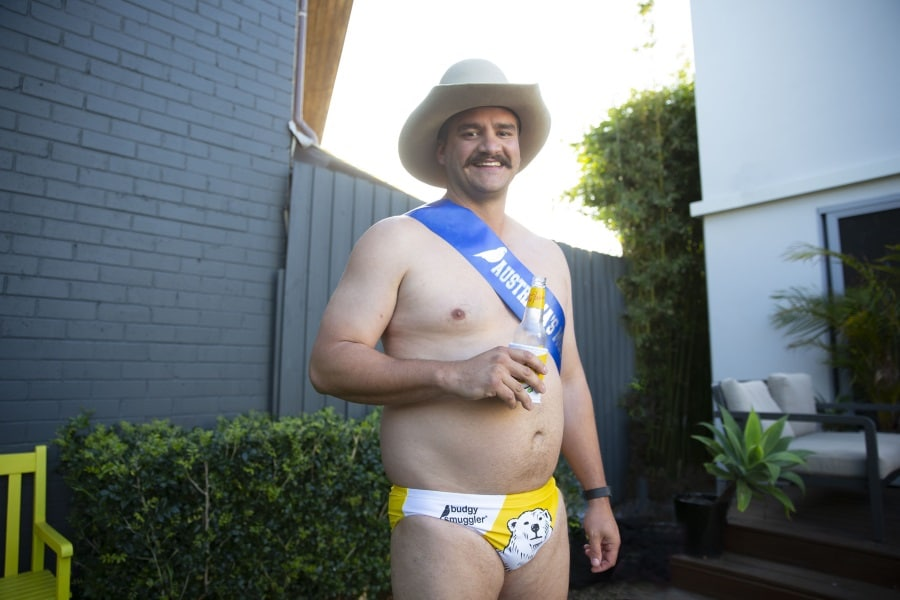 budgy smuggler australia ordinary rig competition men standing