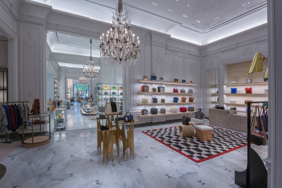 bergdorf goodman new york backpack showroom