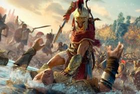assassin creed warrior attacking