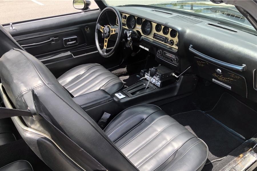 Burt Reynolds' 1978 Pontiac Firebird Trans Am 'Bandit' interior