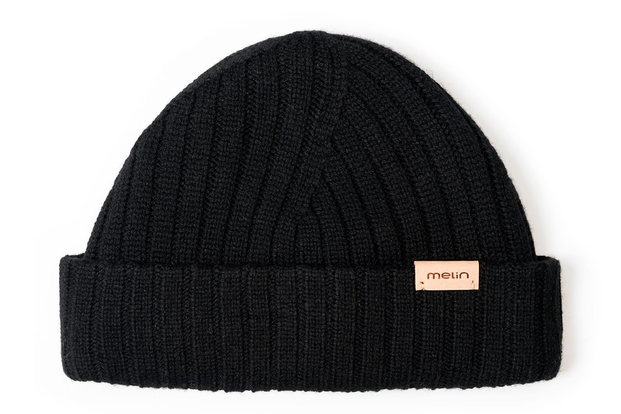 melin all day beanie in black