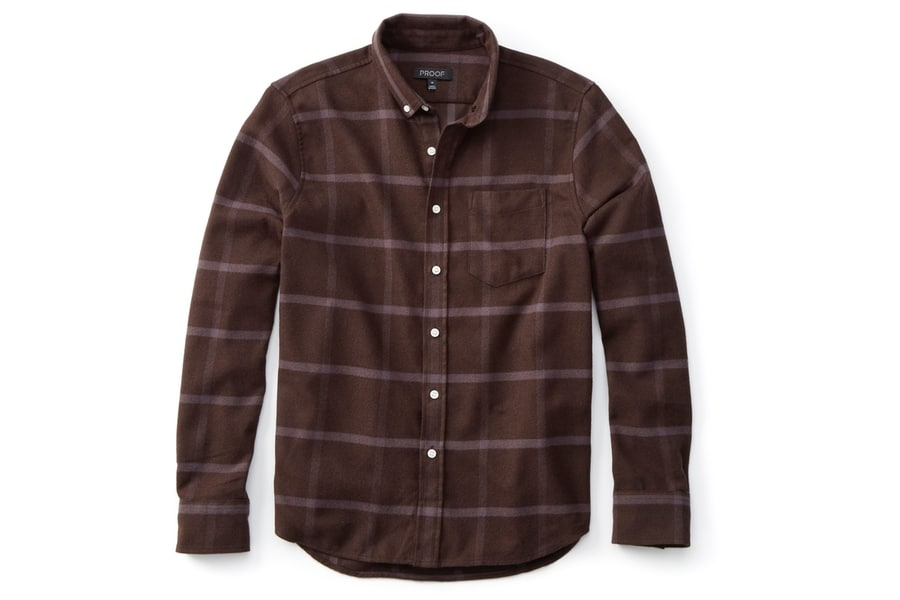 proof heatseeker flannel in brown check