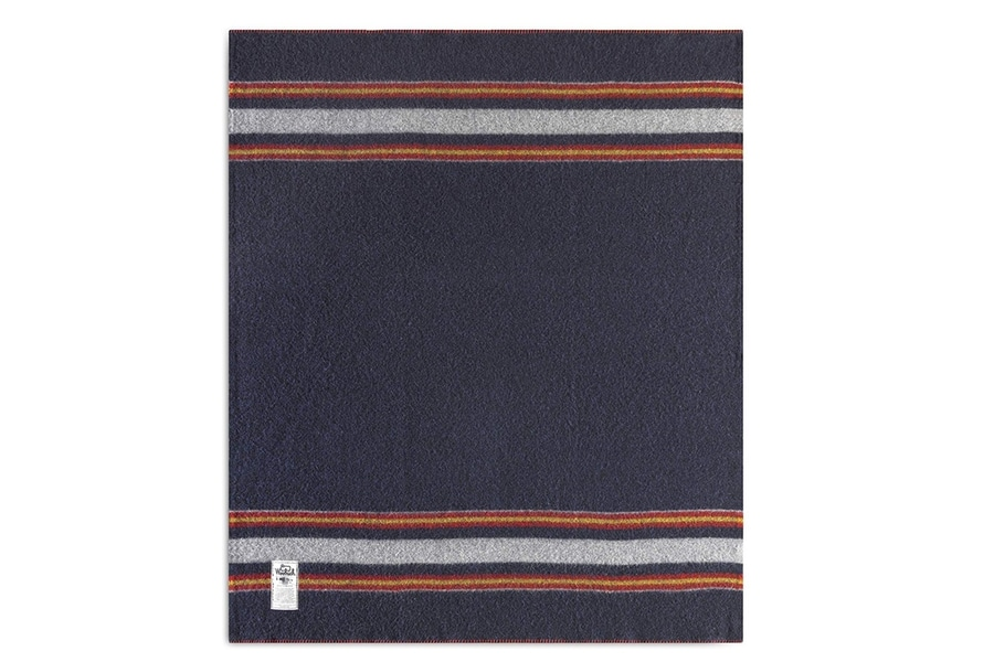 woolrich camp blanket in navy