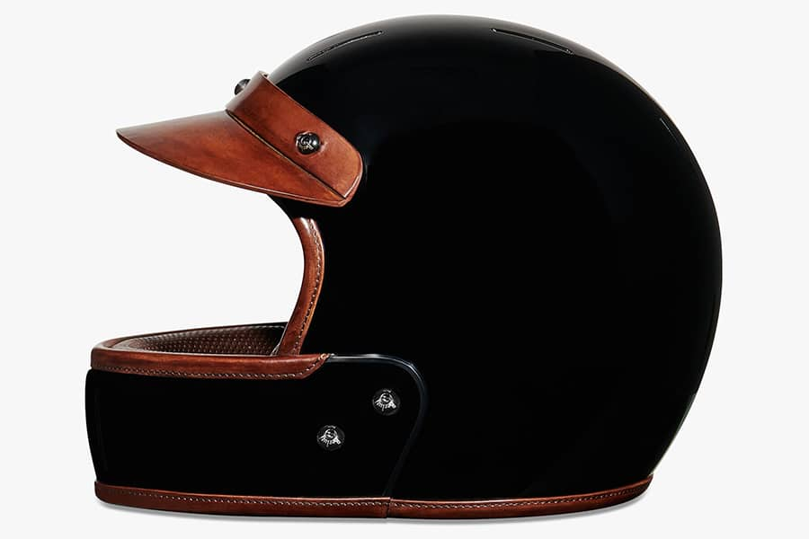 berluti leather helmet side view