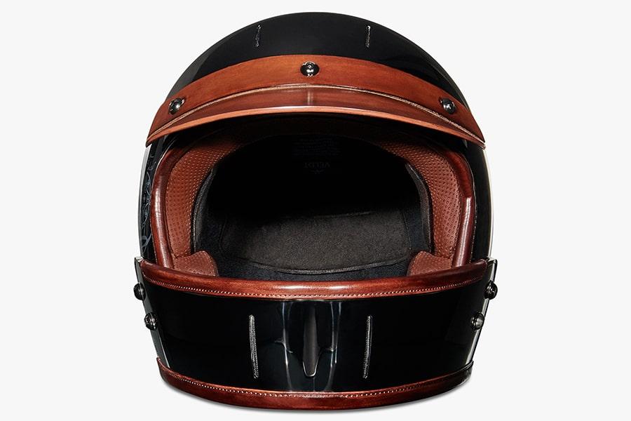 berluti leather helmet front