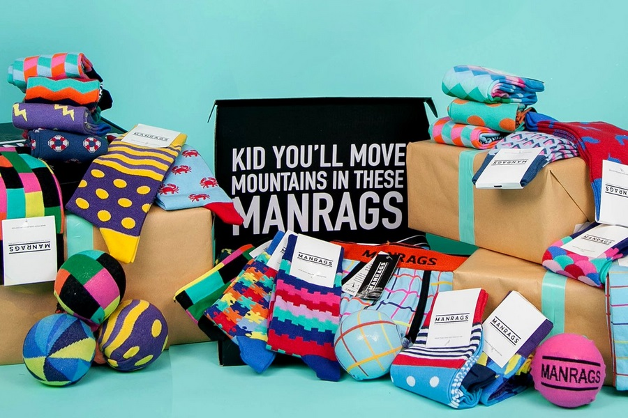 manrags subscription box socks and underwear collection