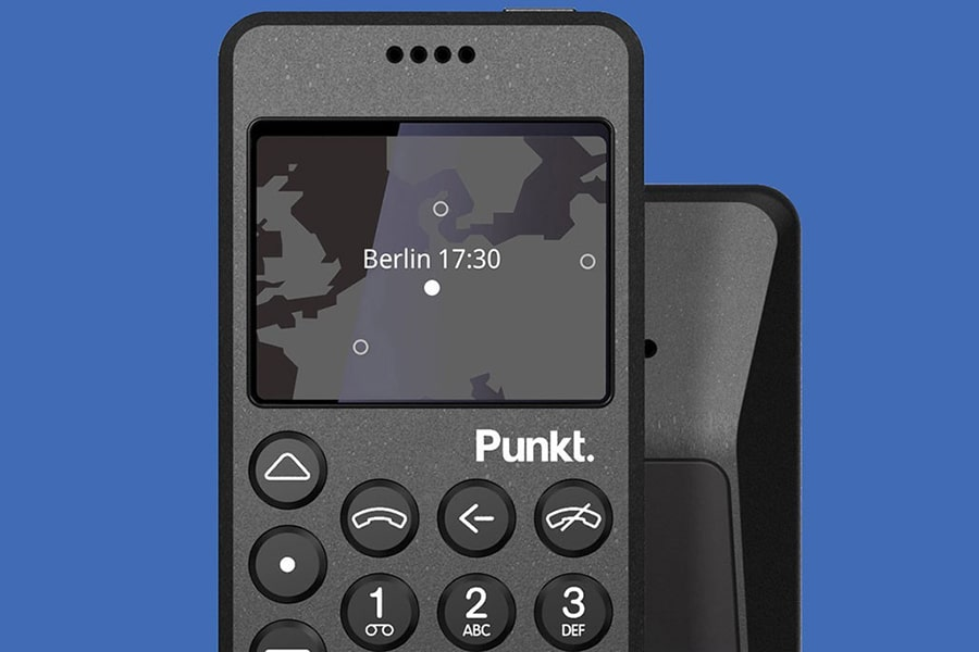 front view punkt mp02 4g mobile phone